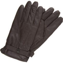 Rękawiczki męskie: Barbour Rękawiczki pięciopalcowe dark brown