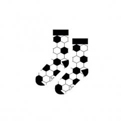Piłka Nożna- Skarpety. Szare skarpetogetry piłkarskie marki Sox in the box, w kolorowe wzory, z bawełny. Za 25,00 zł.