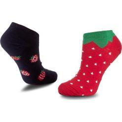Skarpety Niskie Unisex MANY MORNINGS - Strawberries Low Czerwony Granatowy. Czerwone skarpetki męskie marki Happy Socks, z bawełny. Za 19,00 zł.