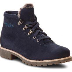Trapery PANAMA JACK - Babette B3 Nobuck Marino/Navy. Niebieskie buty zimowe damskie Panama Jack, z nubiku. Za 789,00 zł.