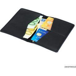 Portfele męskie: Cienki, skórzany portfel CECHINI na karty czarny