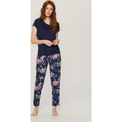Piżama z szortami - Granatowy - 2