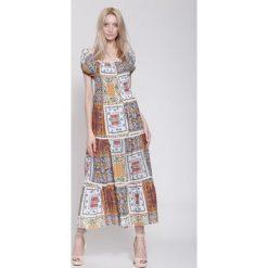 Sukienki hiszpanki: Ciemnoniebieska Sukienka Marakesh's Sun