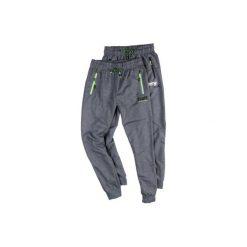 Spodnie męskie dresowe z kieszeniami, ze ściągaczami. Szare spodnie dresowe męskie TXM, z dresówki. Za 34,99 zł.