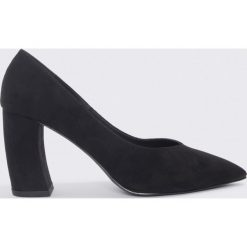 NA-KD Shoes Czółenka na zaookrąglonym obcasie - Black. Czarne buty ślubne damskie NA-KD Shoes. Za 161,95 zł.