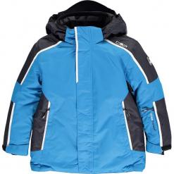 Kurtka narciarska w kolorze niebieskim. Niebieskie kurtki chłopięce marki CMP Kids. W wyprzedaży za 207,95 zł.