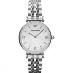 Zegarek EMPORIO ARMANI - Gianni T-Bar AR1682 Silver/Steel/Silver/Steel. Szare zegarki damskie marki Emporio Armani, l, z nadrukiem, z bawełny, z okrągłym kołnierzem. Za 1269,00 zł.