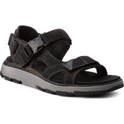 Sandały CLARKS - Un Trek Bar 261327777 Black Nubuck. Czarne sandały męskie skórzane Clarks. W wyprzedaży za 259,00 zł.