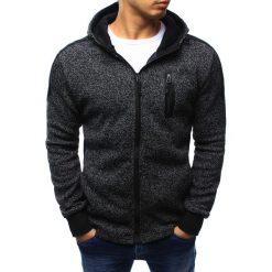 Bluzy męskie: Bluza męska rozpinana czarna z kapturem (bx3151)