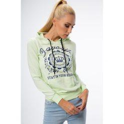 Bluzy damskie: Pistacjowa bluza z kapturem 0126
