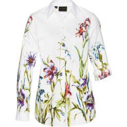 Bluzki damskie: Bluzka w kwiaty bonprix biały w kwiaty