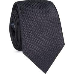 KRAWAT KWCR001250. Czarne krawaty męskie Giacomo Conti, z mikrofibry. Za 69,00 zł.