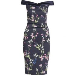 Sukienki hiszpanki: Karen Millen BOTANICAL TRAILING FLORAL PRINT ON SIGNATURE STRETCH Sukienka koktajlowa multicolour