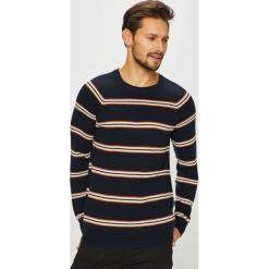 Review - Sweter. Szare swetry klasyczne męskie Review, l, z bawełny, z okrągłym kołnierzem. Za 179,90 zł.