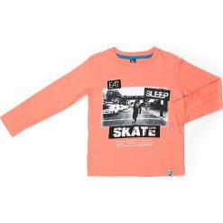 Koszulka w kolorze pomarańczowym. Brązowe t-shirty chłopięce z długim rękawem Street Monkey, z bawełny. W wyprzedaży za 39,95 zł.