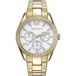 Zegarek kwarcowy w kolorze perłowobiało-złotym. Żółte, analogowe zegarki damskie Esprit Watches, ze stali. W wyprzedaży za 318,95 zł.