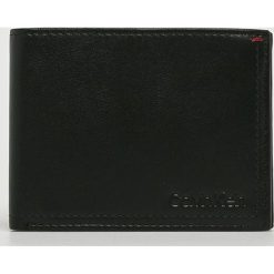 Calvin Klein - Portfel skórzany. Czarne portfele męskie Calvin Klein, z materiału. Za 299,90 zł.
