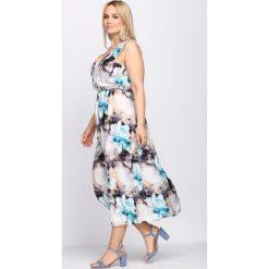 Sukienki hiszpanki: Niebieska Sukienka Hot Sand