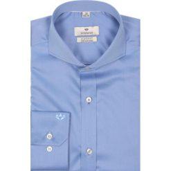 Koszule męskie na spinki: koszula wincode 1975 długi rękaw custom fit granatowy