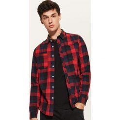 Koszula w kratę - Wielobarwn. Szare koszule męskie marki House, l, z bawełny. Za 79,99 zł.