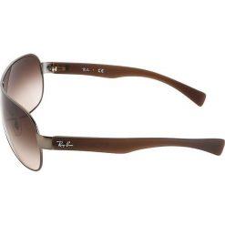 RayBan Okulary przeciwsłoneczne brown. Szare okulary przeciwsłoneczne damskie lenonki marki Ray-Ban, z materiału. Za 489,00 zł.