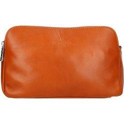 Torebki klasyczne damskie: Skórzana torebka w kolorze karmelowym – 24 x 16 x 9 cm