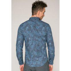 Blend - Koszula. Szare koszule męskie na spinki marki Blend, l, z bawełny, z klasycznym kołnierzykiem, z długim rękawem. W wyprzedaży za 99,90 zł.