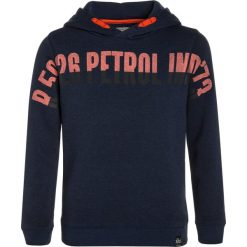 Petrol Industries HOODED Bluza z kapturem dark capri. Niebieskie bejsbolówki męskie Petrol Industries, z bawełny, z kapturem. W wyprzedaży za 126,75 zł.