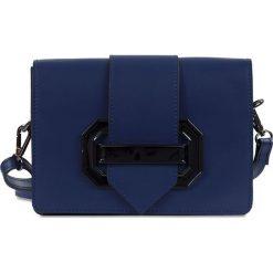"""Torebki klasyczne damskie: Skórzana torebka """"Lotte"""" w kolorze niebieskim – 22 x 16 x 7 cm"""
