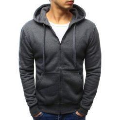 Bluzy męskie: Bluza męska rozpinana antracytowa (bx2196)