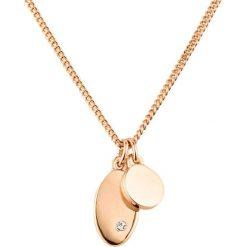 Naszyjniki damskie: Naszyjnik w kolorze różowego złota z kryształem Swarovski – (D)45 cm