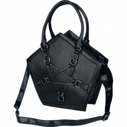 Banned Alternative Evocation Torebka - Handbag czarny. Czarne torebki klasyczne damskie Banned Alternative, w paski. Za 199,90 zł.