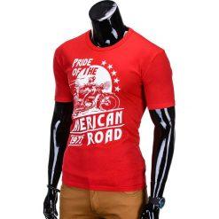 T-SHIRT MĘSKI Z NADRUKIEM S753 - CZERWONY. Szare t-shirty męskie z nadrukiem marki Lacoste, z gumy, na sznurówki, thinsulate. Za 29,00 zł.