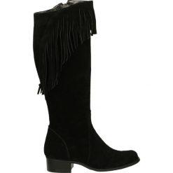 Kozaki - 122 CAM NERO. Czarne buty zimowe damskie marki Venezia, ze skóry. Za 219,00 zł.