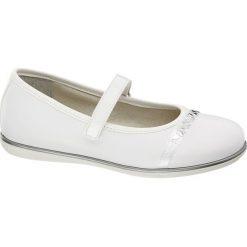 Baleriny dziecięce Graceland białe. Białe baleriny dziewczęce marki Graceland, z materiału. Za 149,90 zł.
