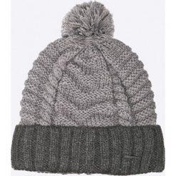Diesel - Czapka. Szare czapki zimowe męskie Diesel, na zimę, z dzianiny. W wyprzedaży za 139,90 zł.