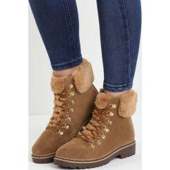 Camelowe Traperki Elapsed Time. Brązowe buty zimowe damskie marki NEWFEEL, z gumy. Za 89,99 zł.