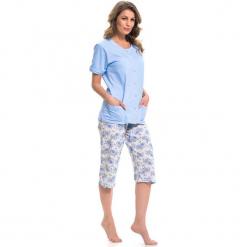 Piżama w kolorze niebiesko-kremowym - koszula, spodnie. Białe piżamy damskie Doctor Nap, xl. W wyprzedaży za 79,95 zł.