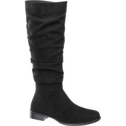 Kozaki damskie Graceland czarne. Czarne buty zimowe damskie Graceland, z materiału, na obcasie. Za 139,90 zł.