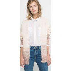 Sweter rozpinany. Szare kardigany damskie marki La Redoute Collections, m, z bawełny, z kapturem. Za 126,00 zł.