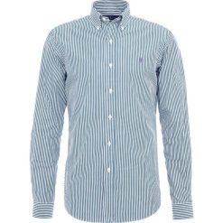 Polo Ralph Lauren SLIM FIT Koszula forest/white. Szare koszule męskie slim marki Polo Ralph Lauren, l, z bawełny, button down, z długim rękawem. Za 459,00 zł.