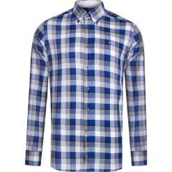 Koszule męskie na spinki: Koszula CONTE OF FLORENCE OREGON CHECK Niebieski|Print|Szary