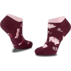 Skarpety Niskie Unisex MANY MORNINGS - Piggy Tales Low Bordowy. Czerwone skarpetki męskie marki Happy Socks, z bawełny. Za 19,00 zł.