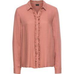Bluzki damskie: Bluzka z falbanami bonprix stary różowy