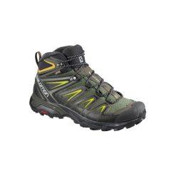 Buty trekkingowe męskie: Salomon Buty męskie X Ultra 3 Mid GTX Castor Gray/Black/Green Sulphur r. 42 (401337)