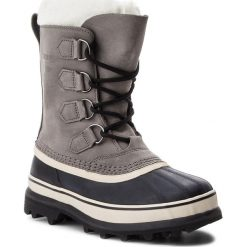 Śniegowce SOREL - Caribou NL1005 Shale/Stone 051. Szare buty zimowe damskie Sorel, z gumy. Za 699,99 zł.