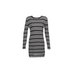 Sukienki krótkie Volcom  ON TRACK. Czarne sukienki hiszpanki Volcom, l, z krótkim rękawem, mini. Za 216,30 zł.
