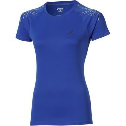Bluzki damskie: Asics Koszulka Stripe Top SS niebieska r. M (126232 8091)