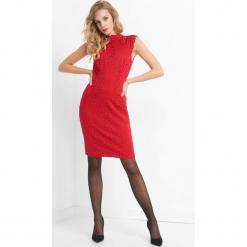 Dopasowana sukienka z koronki. Brązowe sukienki balowe marki Orsay, s, z dzianiny. Za 119,99 zł.