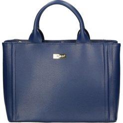 Torba - 4-228-O P BLU. Żółte torebki klasyczne damskie marki Venezia, ze skóry. Za 389,00 zł.